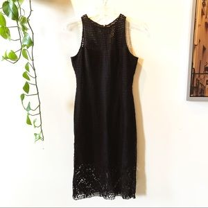 WHBM eyelet lace midi dress